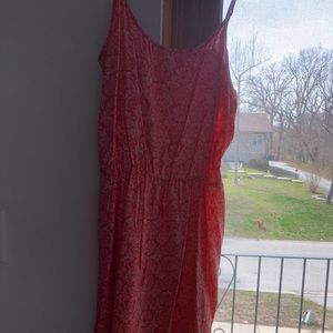 Old Navy Large Coral Floral Sun Dress